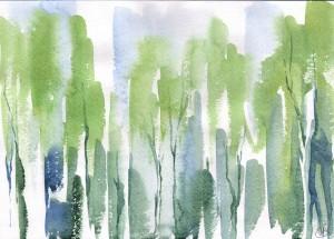 Запахи леса (бумага, акварель)