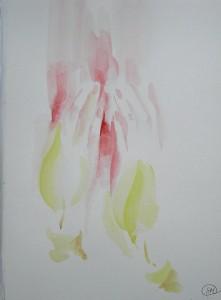 Браха (молитва)-бумага, акварель