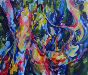В лесу, холст акрил, 2015 г.