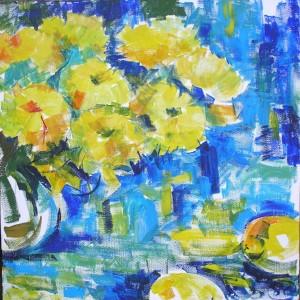 Желтый букет - холст, акрил. 2013 г.