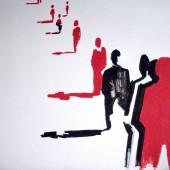 Очередь - холст, акрил, 2011 г.