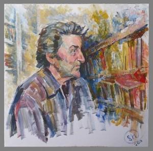 Портрет Игоря Губермана - холст, акрил
