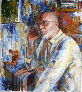 Портрет композитора Леонида Гофмана - холст, акрил
