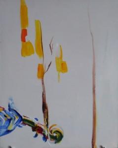 Проросшая скрипка -холст, акрил, 2013 г.