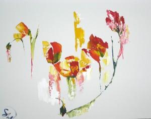 Пятицветие - холст, акрил. 2012 г.