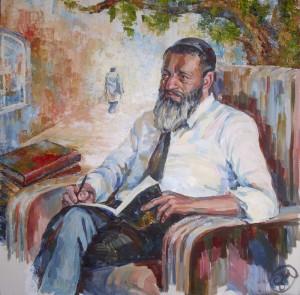 Равин Цви Патлас - холст, акрил