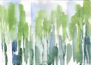 Запахи леса - бумаг, акварель. 2011 г.
