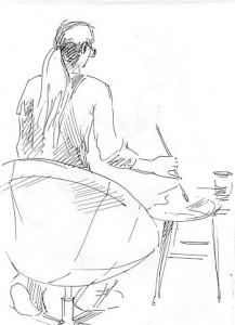Уроки по рисунку и живописи (2) - бумага, перо