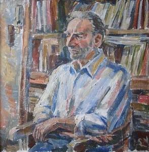Поэт Георгий Кубатьян - холст, акрил