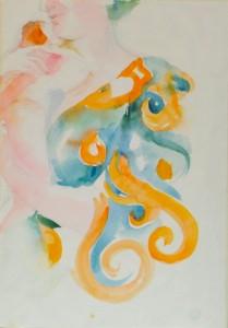 Нежность - бумага, акварель, 2016 г.