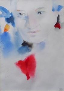 «Родная Наденька, жива ли ты, голубка моя?»(из посл. письма О. Мандельштама из ГУЛАГа..) Портрет Надежды Мандельштам. Бумага, акварель